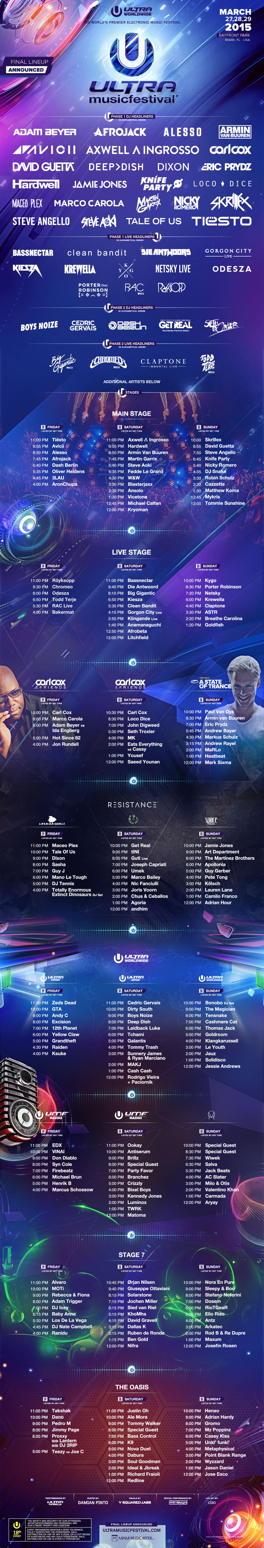 Previous Lineups - Ultra Music Festival