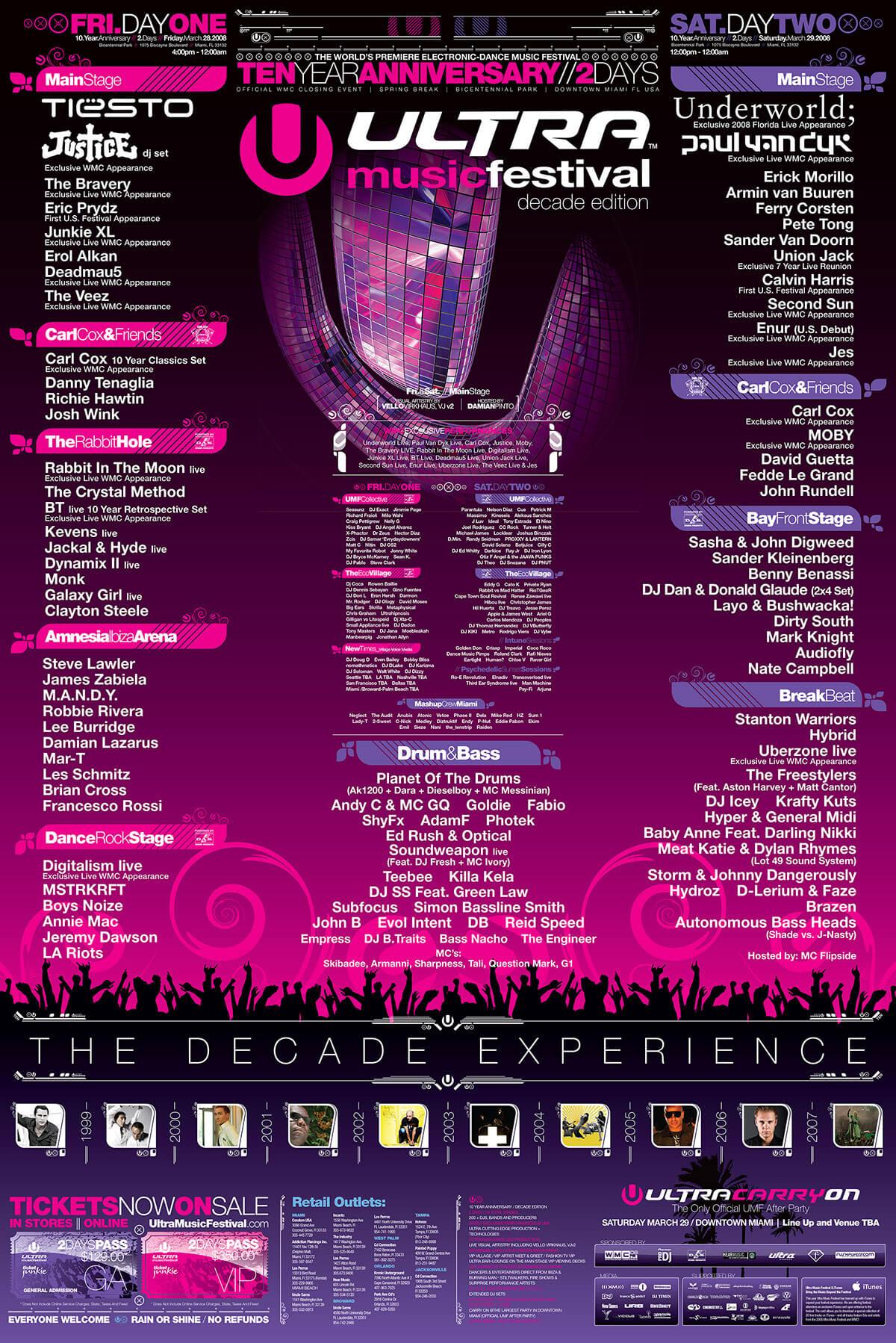 Calendario 1978 Mexico.Previous Lineups Ultra Music Festival