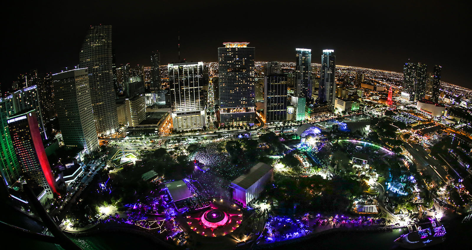 Ultra Music Festival is located at Bayfront Park in Downtown Miami, FL