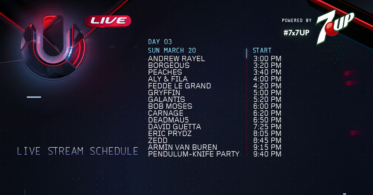 ULTRA MUSIC FESTIVAL 2016 - Day 3 - Live Stream @Miami