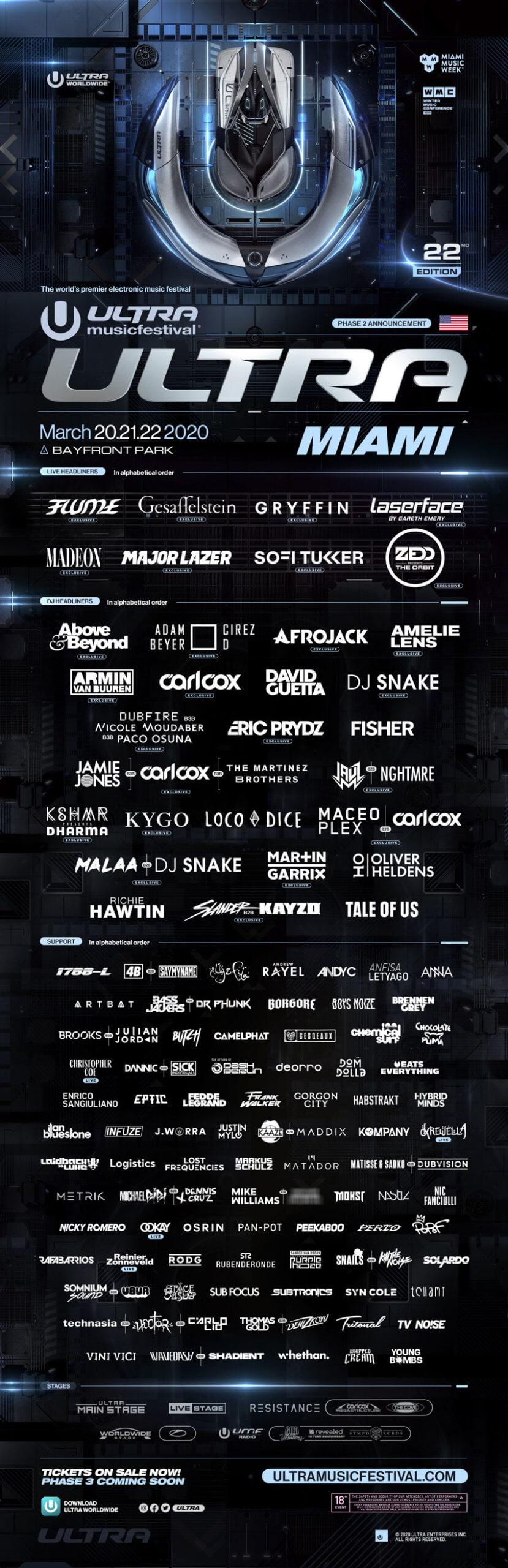 ultra miami lineup 2020